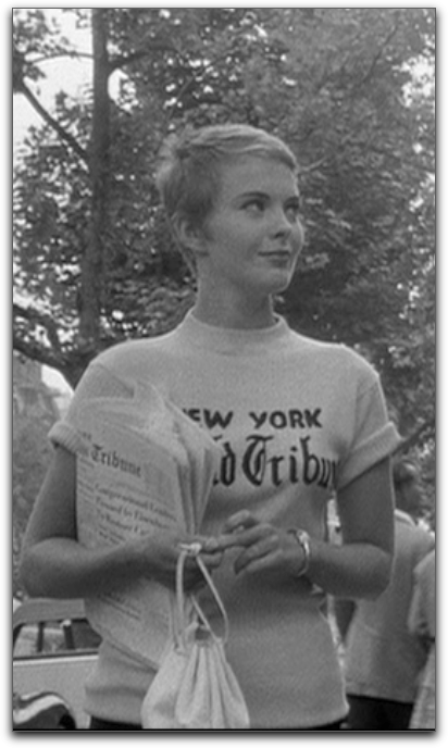 Jean Seberg Breathless New York Hearld Tribune shirt