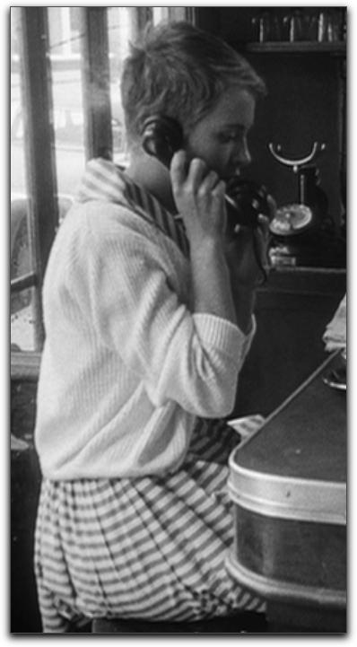 Jean Seberg Breathless striped dress