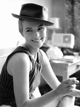 Jean Seberg Breathless hat tank sweater