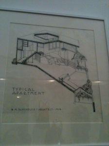 Rudlof Schindler house draft