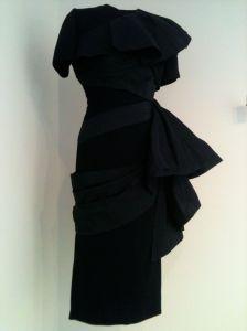 1950's Adrian black dress