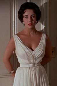 Elizabeth Taylor white dress Cat on a Hot Tin Roof
