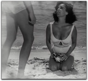 Elizabeth Taylor Suddenly Las Summer white swimsuit Montgomery Clift