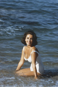 Elizabeth Taylor Suddenly Las Summer white swimsuit