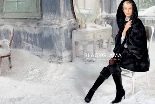 Blackglama and Carolyn Murphy, Fall 2013. This film still inspires.