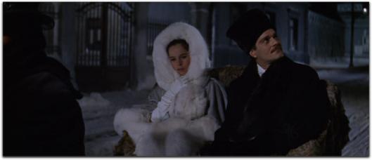 doctor zhivago omar sharif geraldine chaplin white fur coat