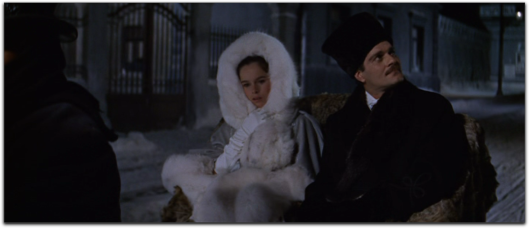 doctor zhivago omar sharif geraldine chaplin white fur coat